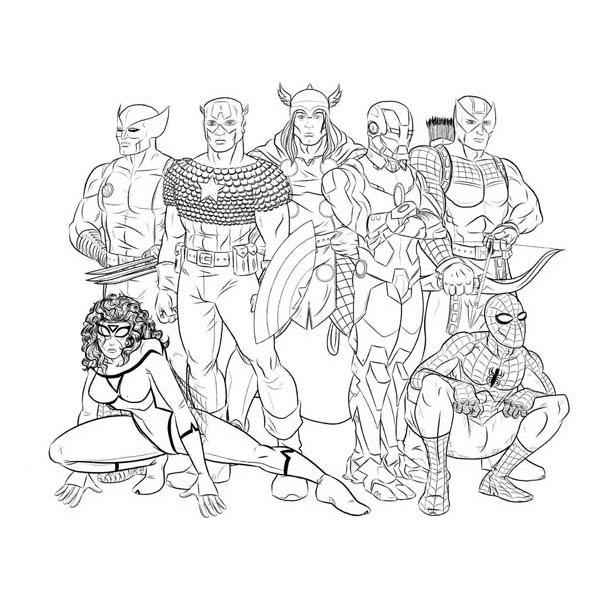 desenho de super heróis de vingadores para colorir tudodesenhos