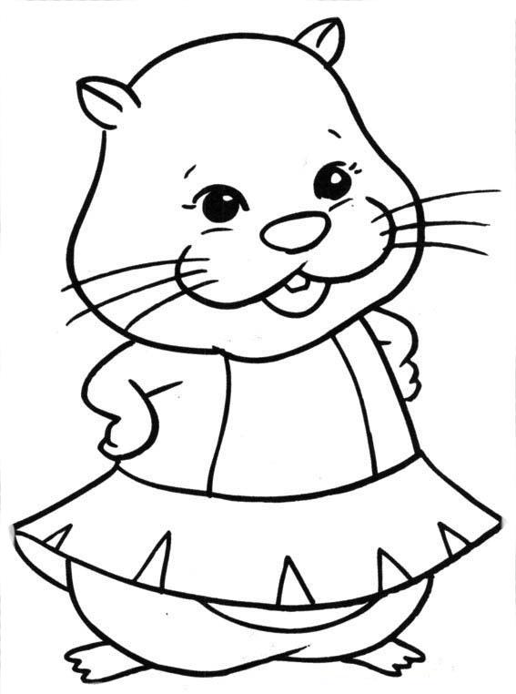 Desenho De Zhu Zhu Pets Menina Para Colorir Tudodesenhos