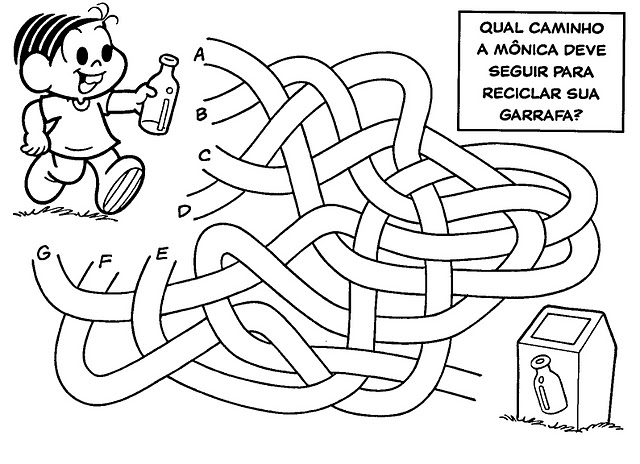 desenho de jogo do labirinto turma da monica para colorir tudodesenhos