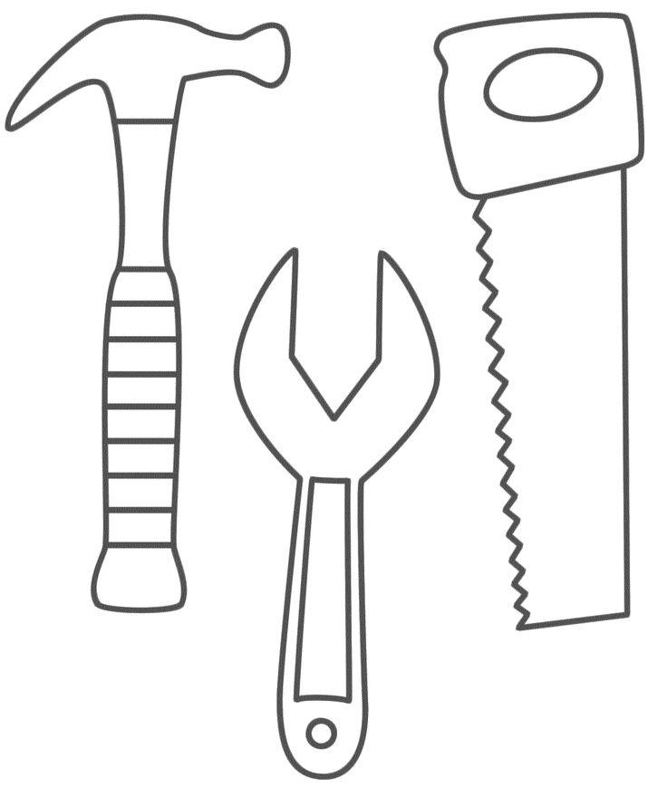 Desenho De Ferramentas De Trabalho Para Colorir Tudodesenhos