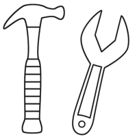 desenho de chave de fenda dupla para colorir   tudodesenhos