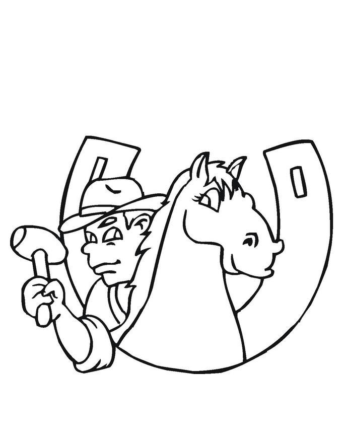 desenho de ferradura de cavalo para colorir tudodesenhos
