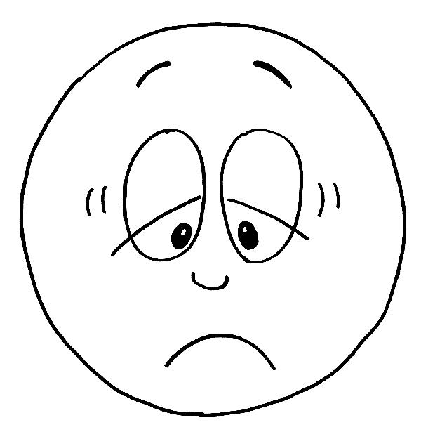 Desenho de Carinha de deprimido para colorir - Tudodesenhos