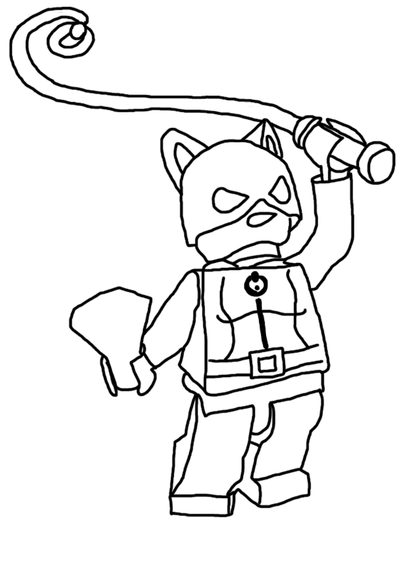 Desenho De Batgirl Lego Para Colorir Tudodesenhos