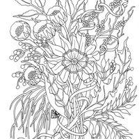 desenho de mandala de flores para adultos para colorir tudodesenhos
