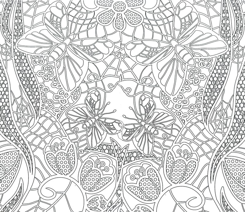 Desenho De Borboletinhas Para Adultos Para Colorir