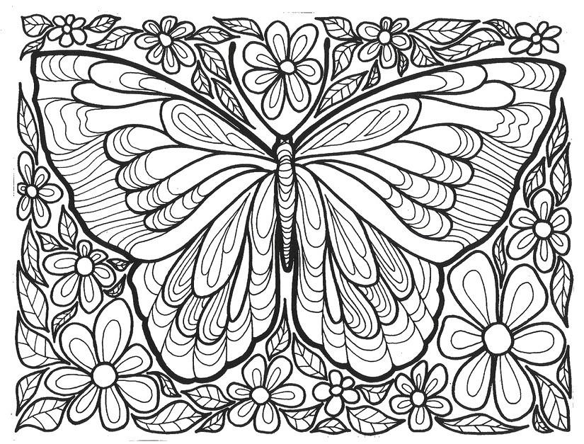 Desenho De Borboleta Para Adultos Para Colorir Tudodesenhos
