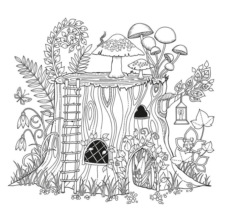 Desenho De Casa Na árvore Para Adultos Para Colorir