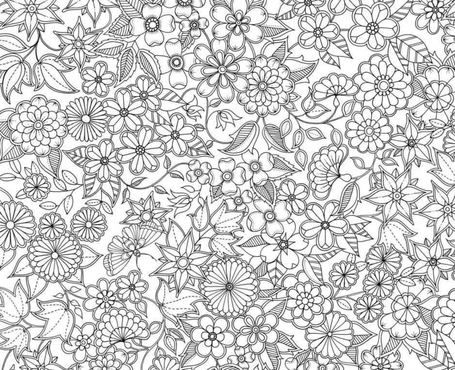 Desenho de Flores para adultos para colorir - Tudodesenhos