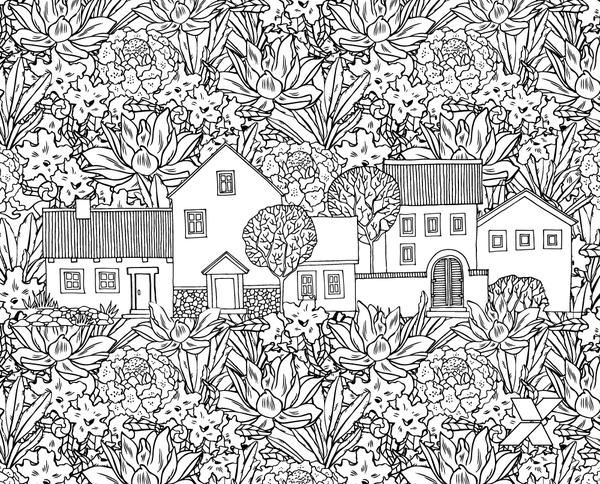 Desenho De Floresta Para Adultos Para Colorir