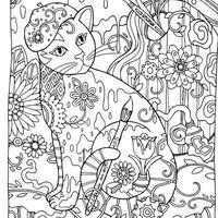 desenho de gato egípcio para adultos para colorir tudodesenhos
