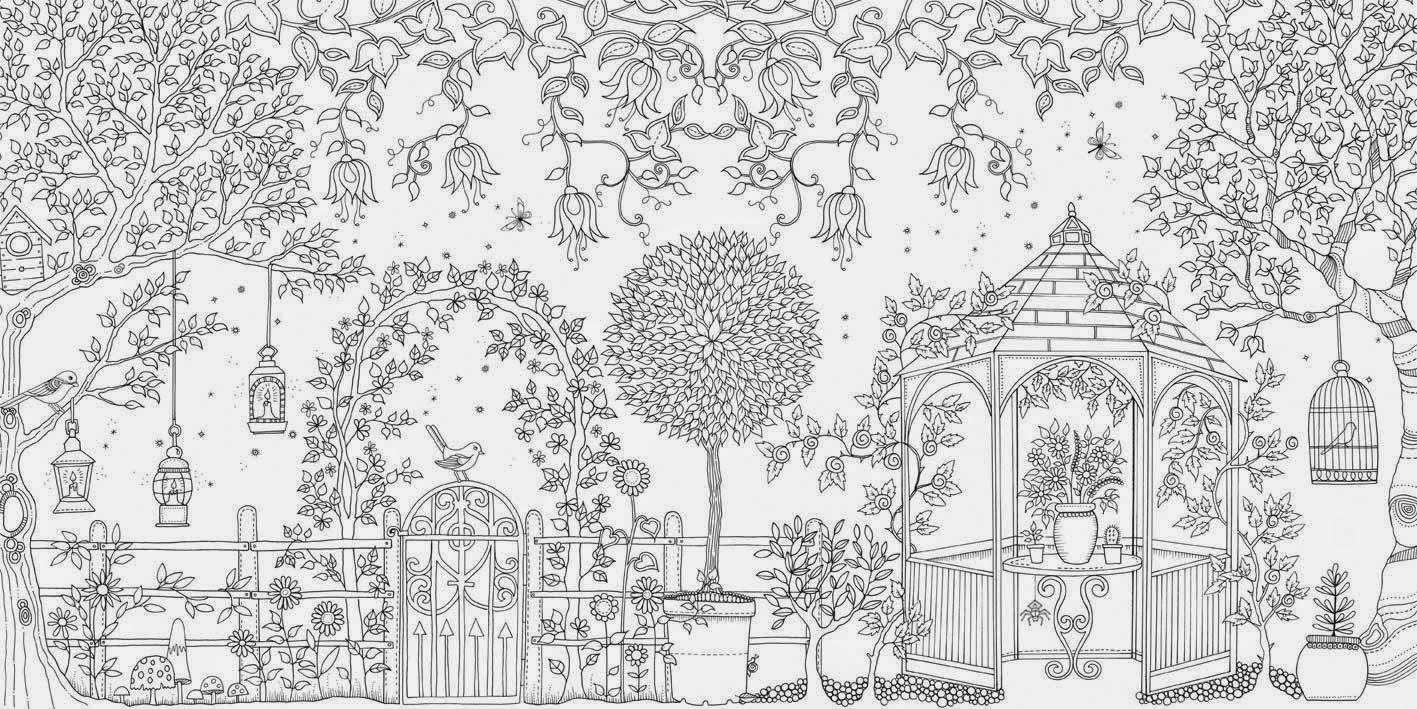 Desenho de Jardim Secreto para colorir - Tudodesenhos