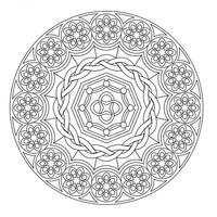 Kleurplaat Fractal Desenho De Mandala De Fada Para Adultos Para Colorir