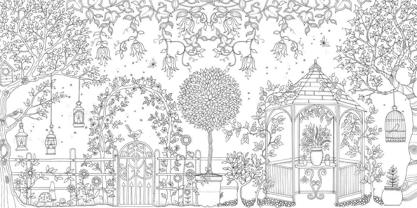 Desenho de Praça para adultos para colorir - Tudodesenhos