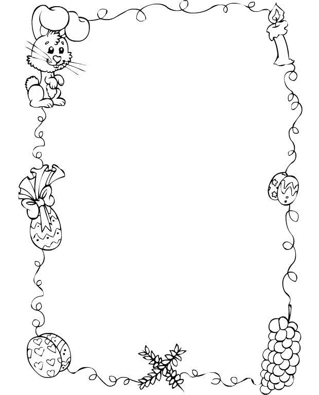 Desenho De Bordas De Pascoa Para Colorir Tudodesenhos