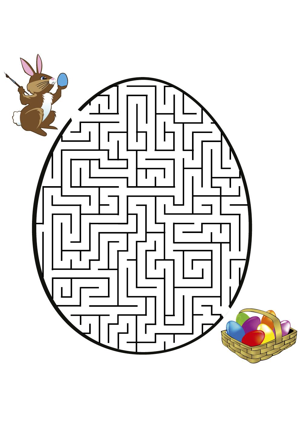 Desenho De Jogo Do Labirinto Ovo De P 225 Scoa Para Colorir