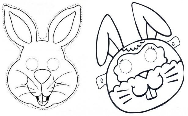 Desenho De Máscaras De Coelhos Da Páscoa Para Colorir