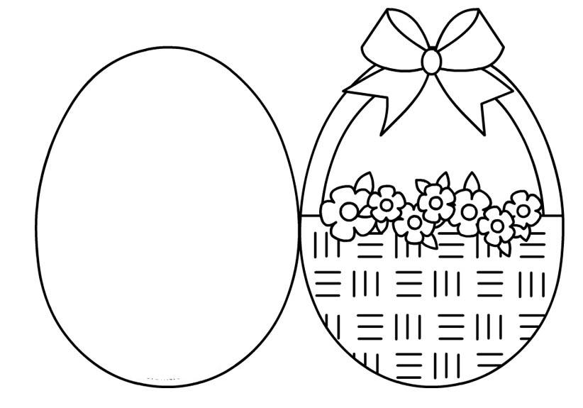 Desenho De Cartão De Ovos De Páscoa Para Colorir