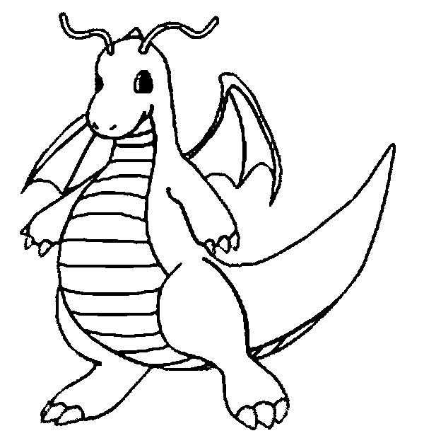 Desenho Dragonite Para Colorir Tudodesenhos