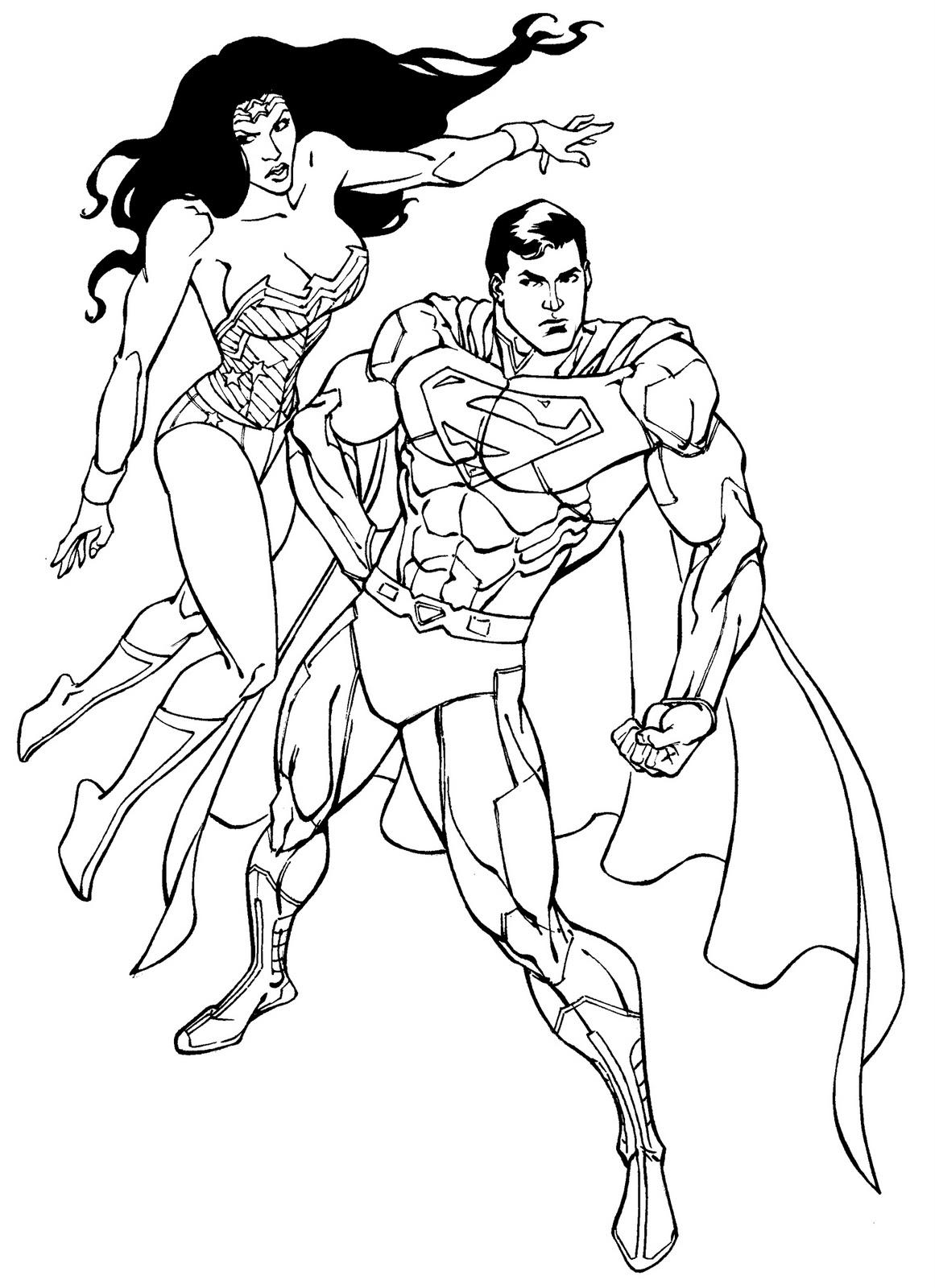 Luxo Desenhos Para Colorir Super Homem E Batman Melhores Casas