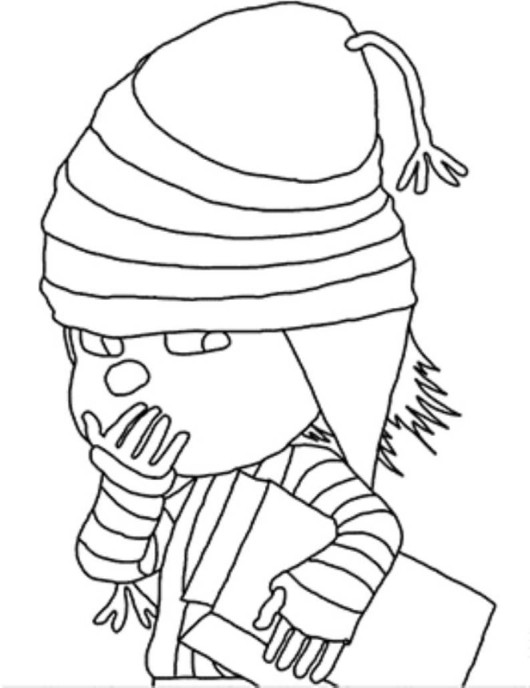 Despicable me 2 coloring pages margo