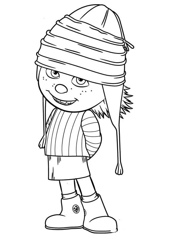 desenho de edith envergonhada para colorir tudodesenhos