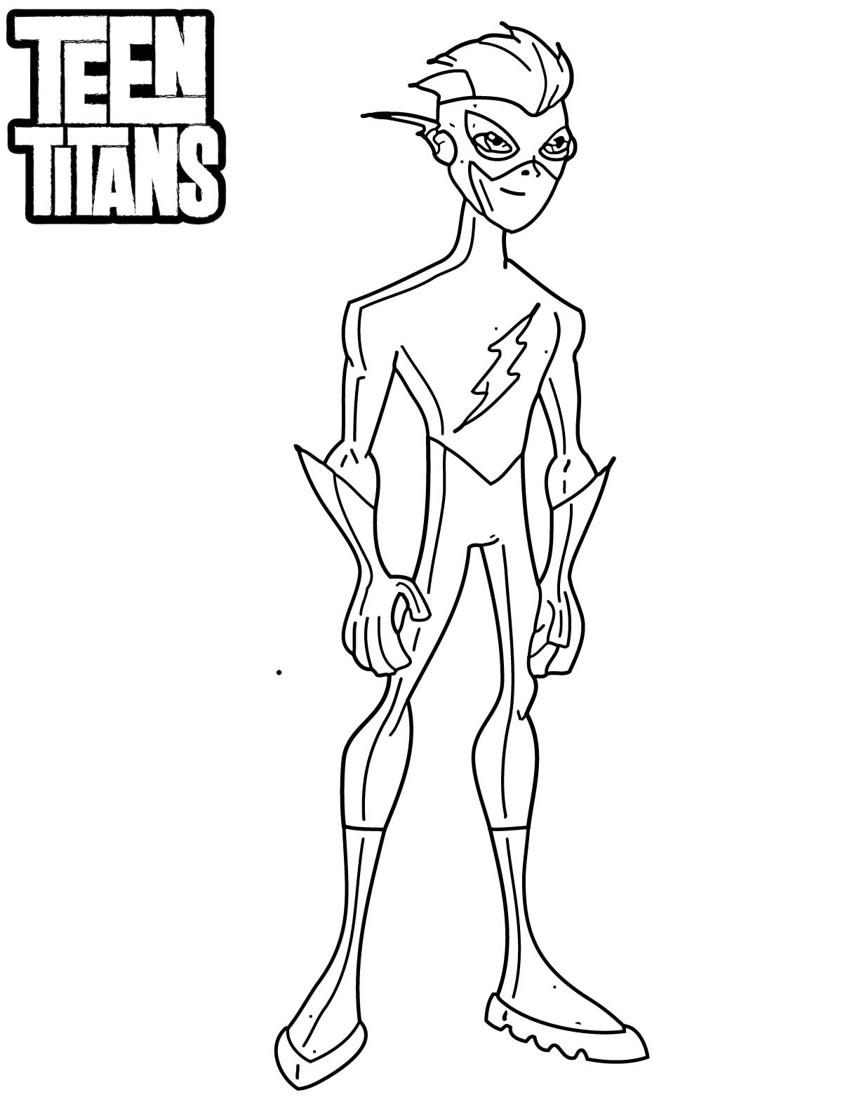 Desenho De Kid Flash De Jovens Titas Para Colorir Tudodesenhos