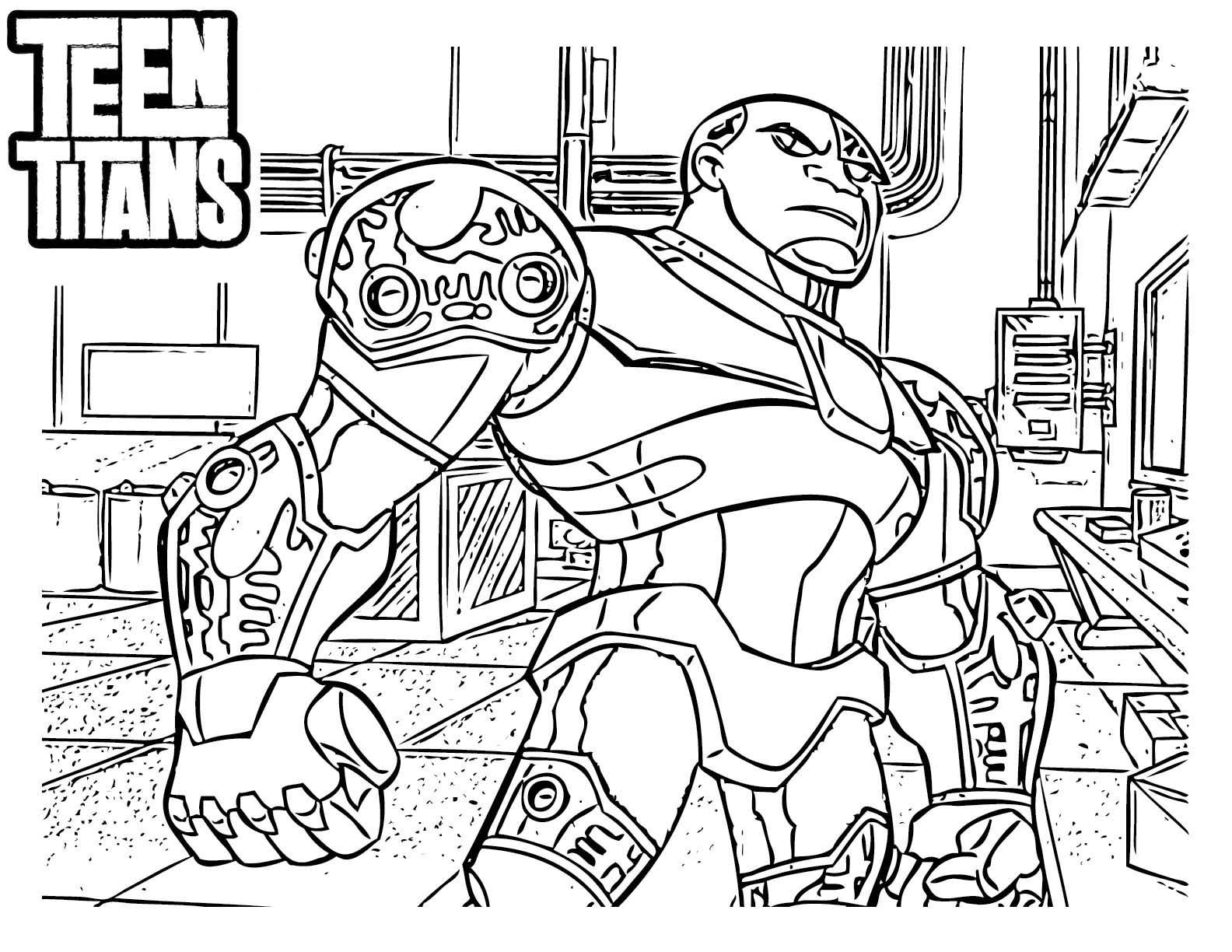 Desenho De Cyborg De Jovens Titãs Para Colorir