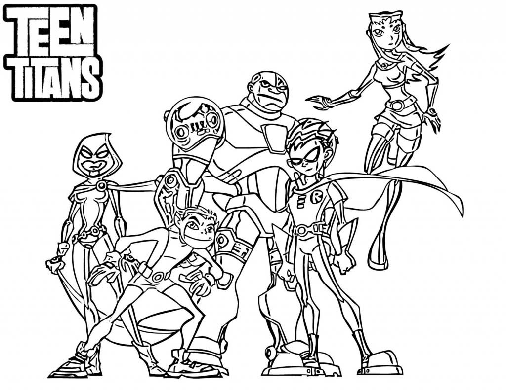 Desenho de Personagens de Jovens Tit s para colorir