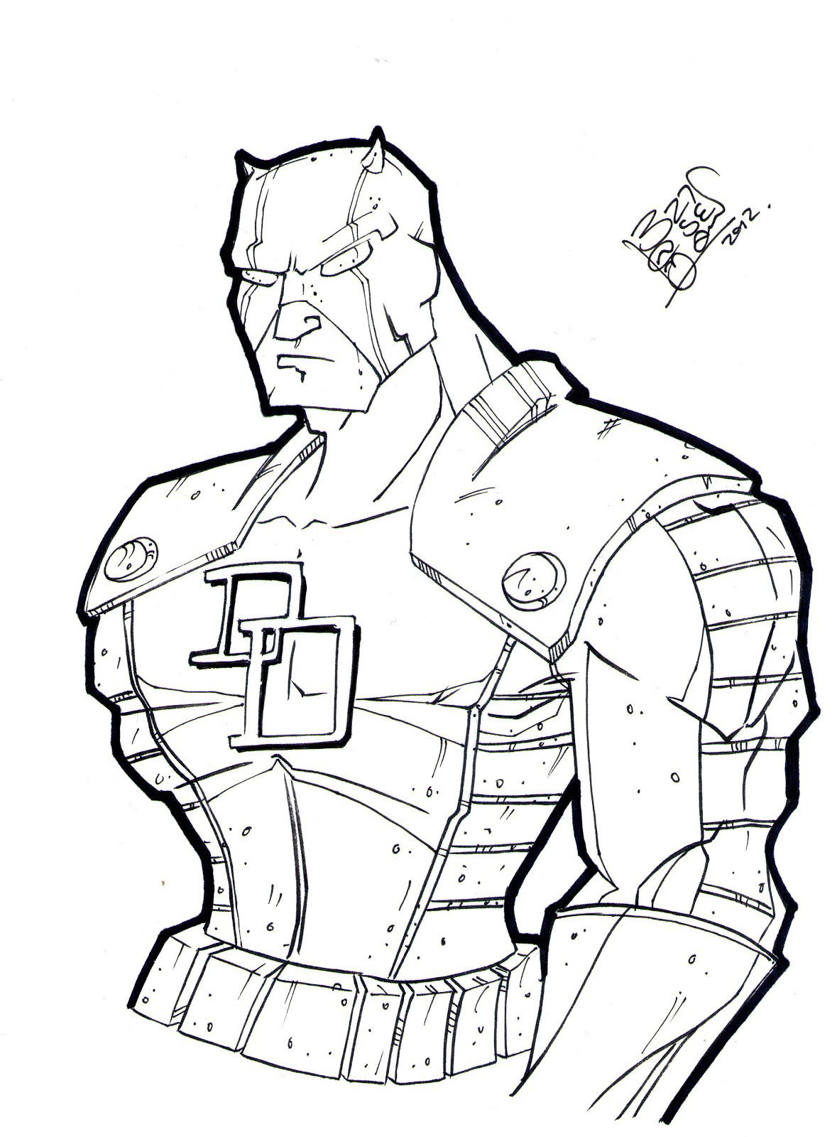 daredevil coloring pages
