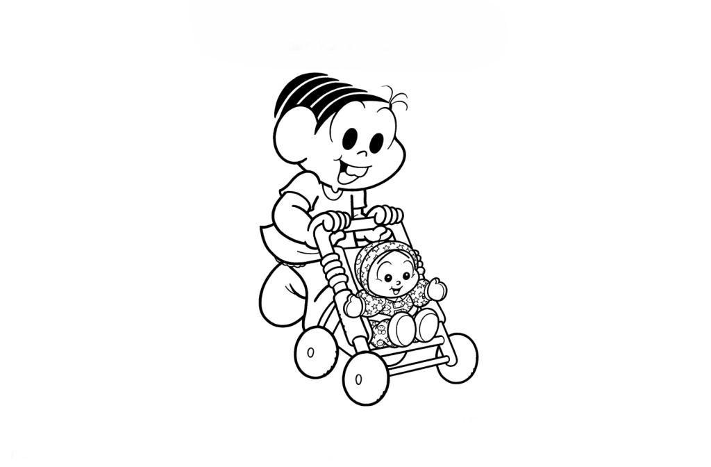 Favoritos Desenho de Monica brincando de boneca para colorir - Tudodesenhos HN68