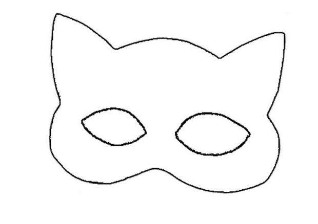 Desenho de m scara da mulher gato para colorir tudodesenhos for Marvel black cat mask template