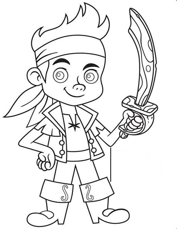 desenho de jake e sua espada de pirata para colorir tudodesenhos