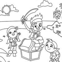 Desenhos De Jake E Os Piratas Da Terra Do Nunca Para Colorir
