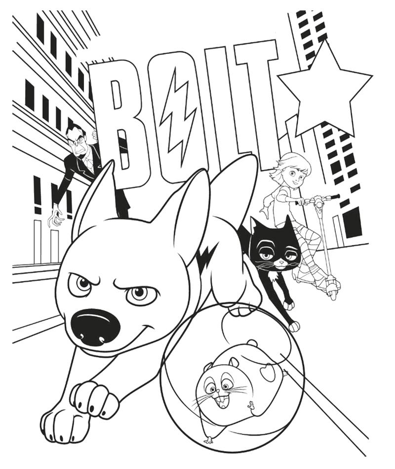 Desenho De Bolt Correndo Pelas Ruas Da Cidade Para Colorir