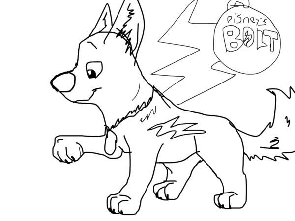 Desenho De Bolt Pensando Um Plano Para Colorir Tudodesenhos