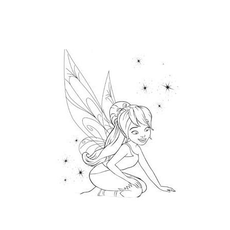 Desenho De Tinker Bell E O Monstro Da Terra Do Nunca Para Colorir