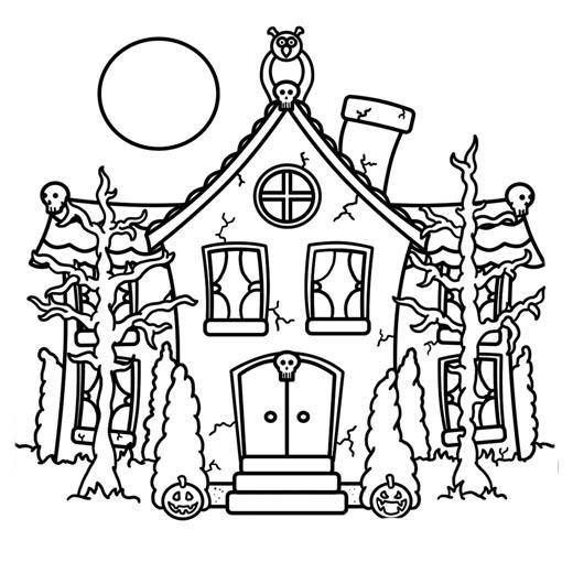 Desenho de casa assombrada para colorir tudodesenhos for Easy to draw mansion