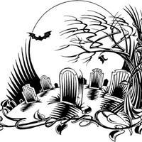 desenhos de cemitério para colorir tudodesenhos