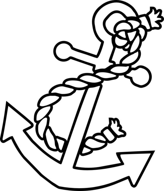 Anchor Drawing Coloring Pages