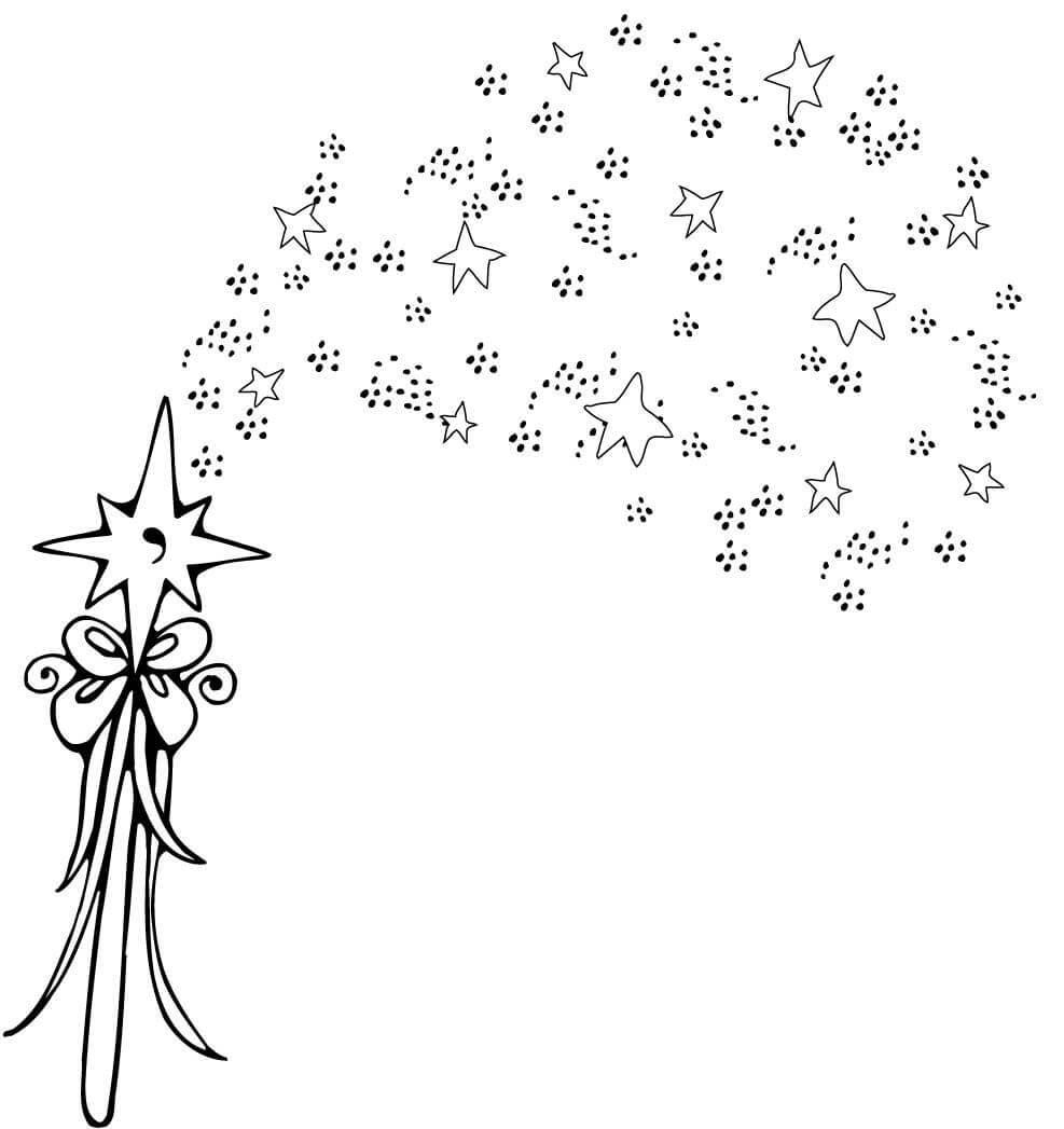 Desenho De Varinha Magica Para Colorir Tudodesenhos