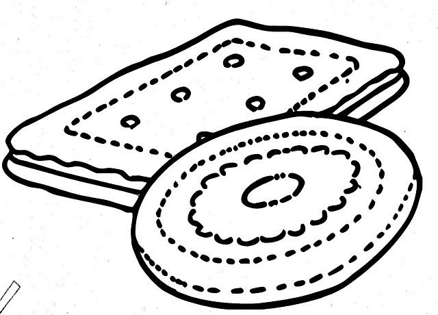 Desenho De Biscoito Maria Para Colorir Tudodesenhos
