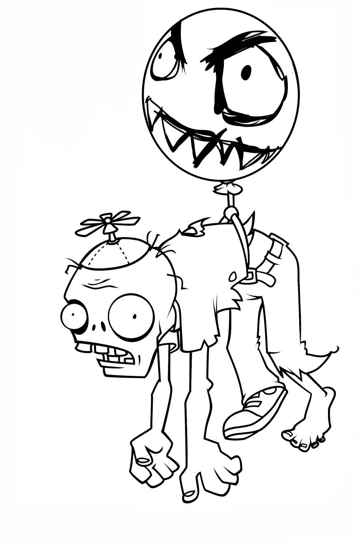 snap desenho de zumbi caminhando de plants vs zombies para colorir