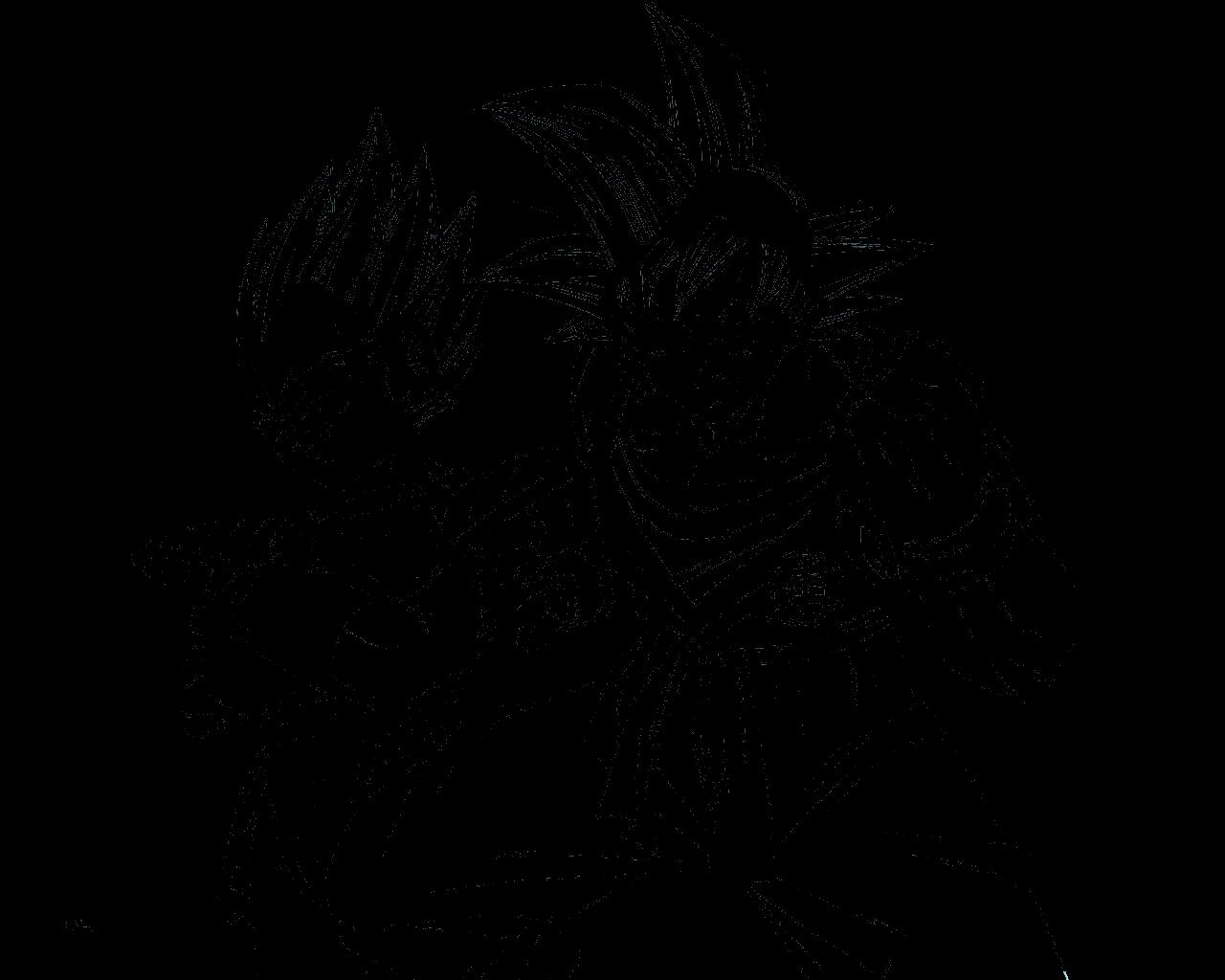 Line Art Vs No Line Art : Desenho de goku e vegeta para colorir tudodesenhos
