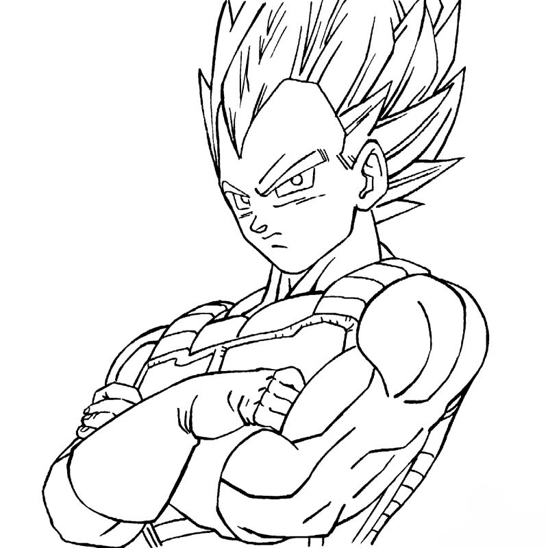 Images Of Vegeta Drawing Easy Www Industrious Info