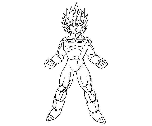 Vegeta Para Colorear Baby Para Goku Y Vegeta Para Pintar: Desenho De Vegeta Super Saiyan Para Colorir