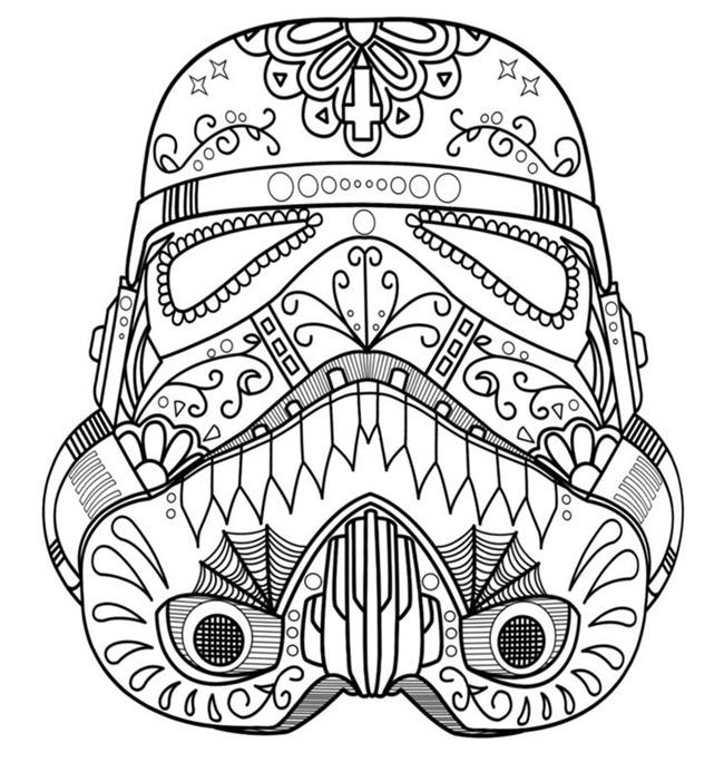 Desenho De Darth Vader No Dia Dos Mortos Para Colorir