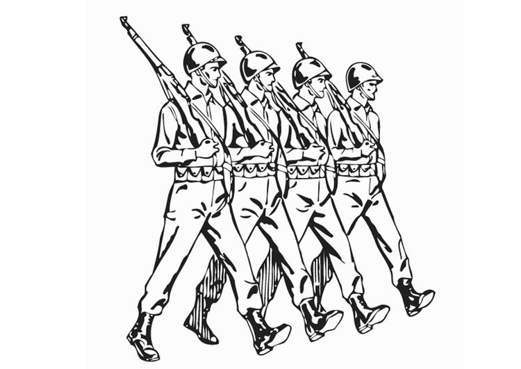 desenho de soldados da segunda guerra mundial para colorir