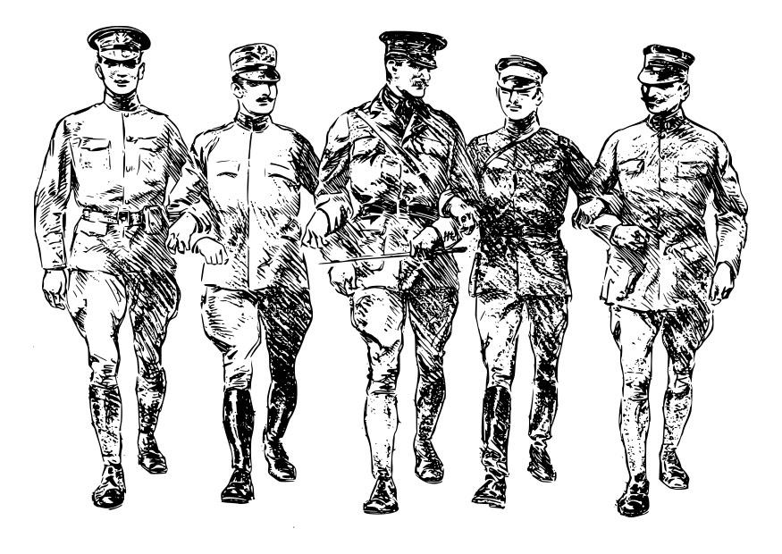desenho de soldados na primeira guerra mundial para colorir