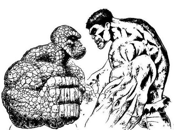Desenho De Hulk E Homem De Pedra Para Colorir Tudodesenhos
